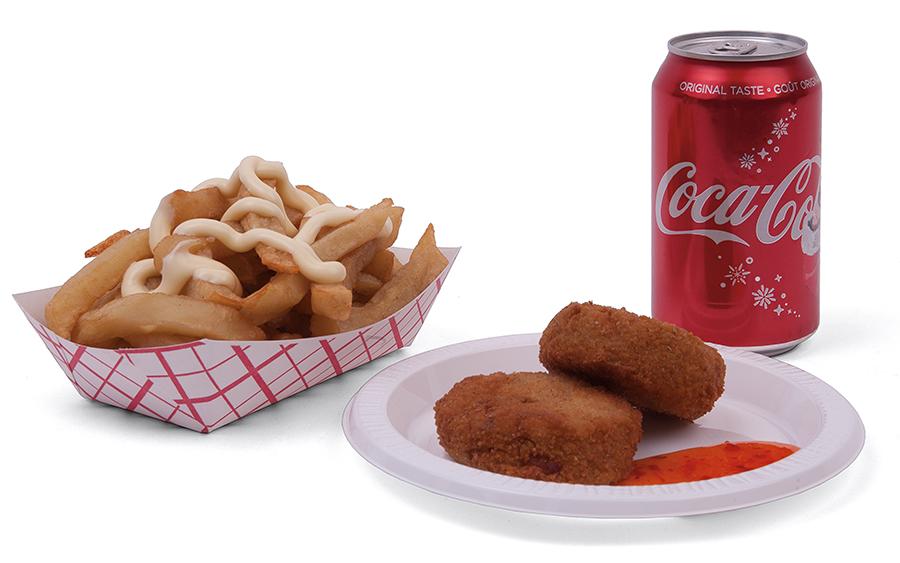 Menu item Fries Bami Nasi with pop combo